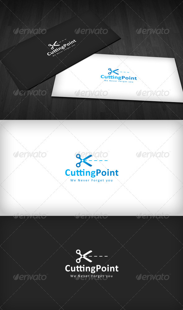 GraphicRiver Cutting Point Logo 1583398