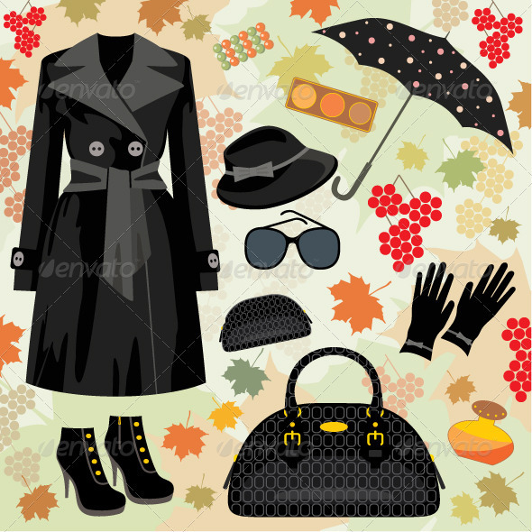 GraphicRiver Autumn Fashion Set 1583634