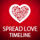 Spread Love This Year - Timeline Cover - GraphicRiver Item for Sale