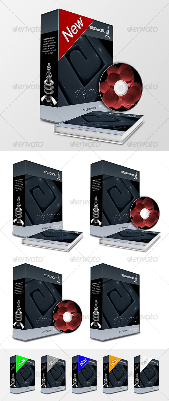 GraphicRiver 3D PREMIERE PACKAGING TEMPLATE 62137