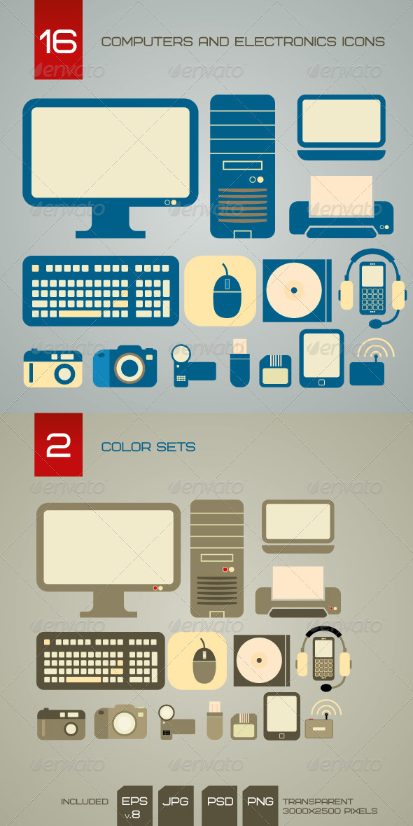 GraphicRiver Computers And Electronics Icons 1585494