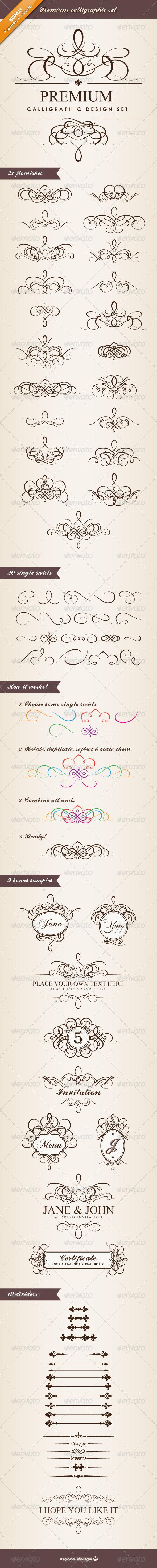 GraphicRiver Premium Calligraphic Design Set 1585547