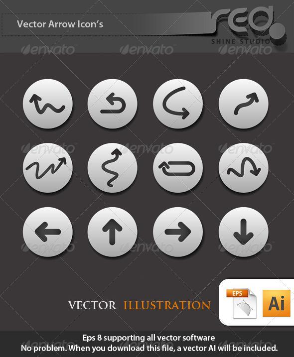GraphicRiver Arrow Icon Vector Pack 1585549