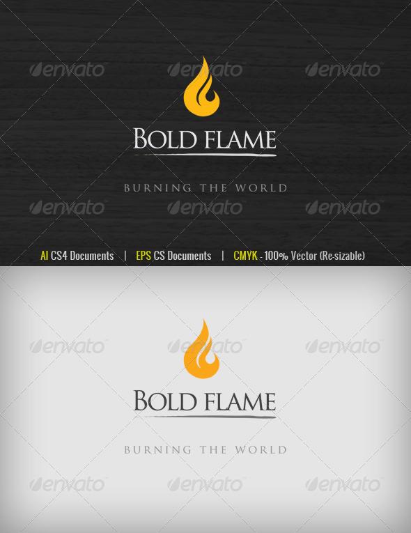 GraphicRiver Bold Flame Logo 1586060
