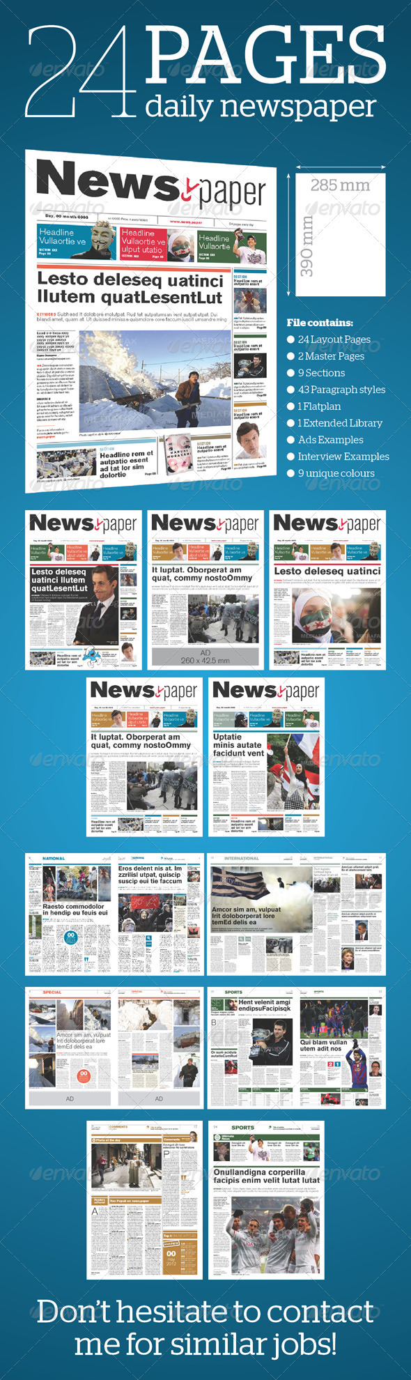 GraphicRiver 24 Pages Daily Newspaper 1586099