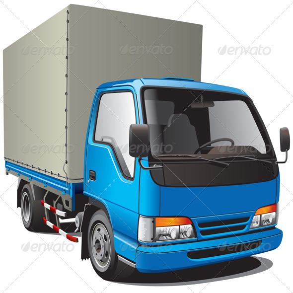 GraphicRiver Small Blue Truck 1586168
