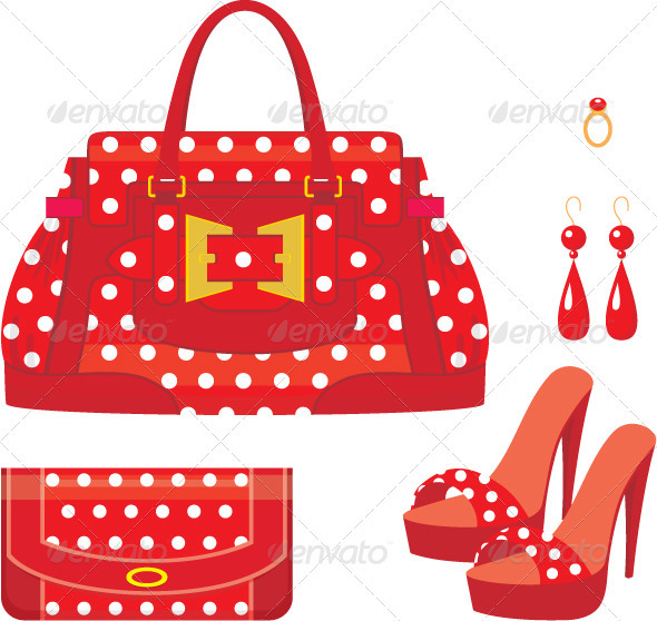 GraphicRiver Female bag purse and shoes on a heel 1586342