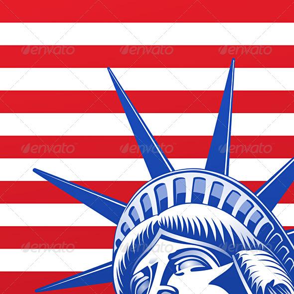 GraphicRiver Liberty Statue Face 1586602