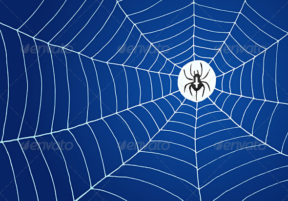 GraphicRiver Spider and Net Illustration 1586612