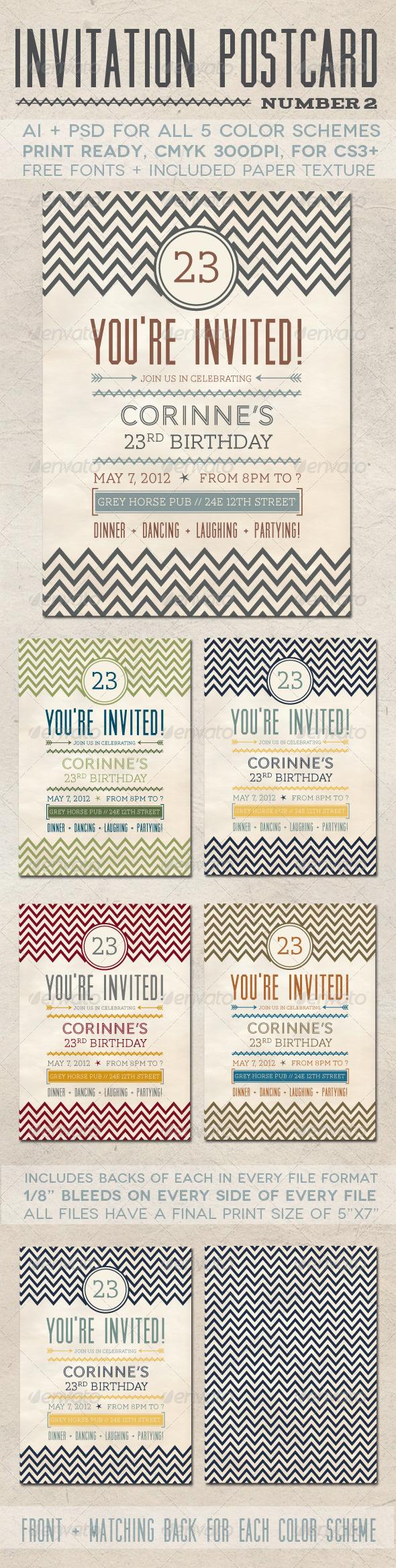 GraphicRiver Invitation Postcard 2 1586745