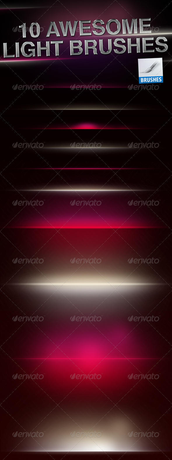 GraphicRiver HQ Light Flares Brushes 1587618