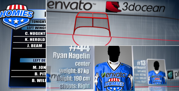 After Effects Project - VideoHive Ice Hockey Team Lineups 1546566