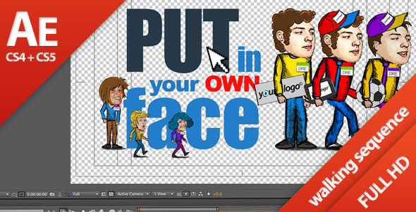 VideoHive Cartoon Walk Sequence Generator Casual 1588527
