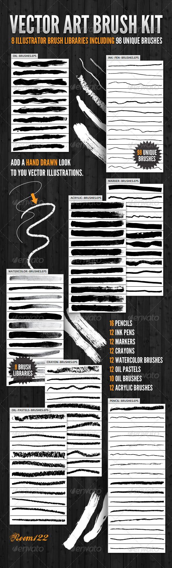 GraphicRiver Vector Art Brush Kit 1589244