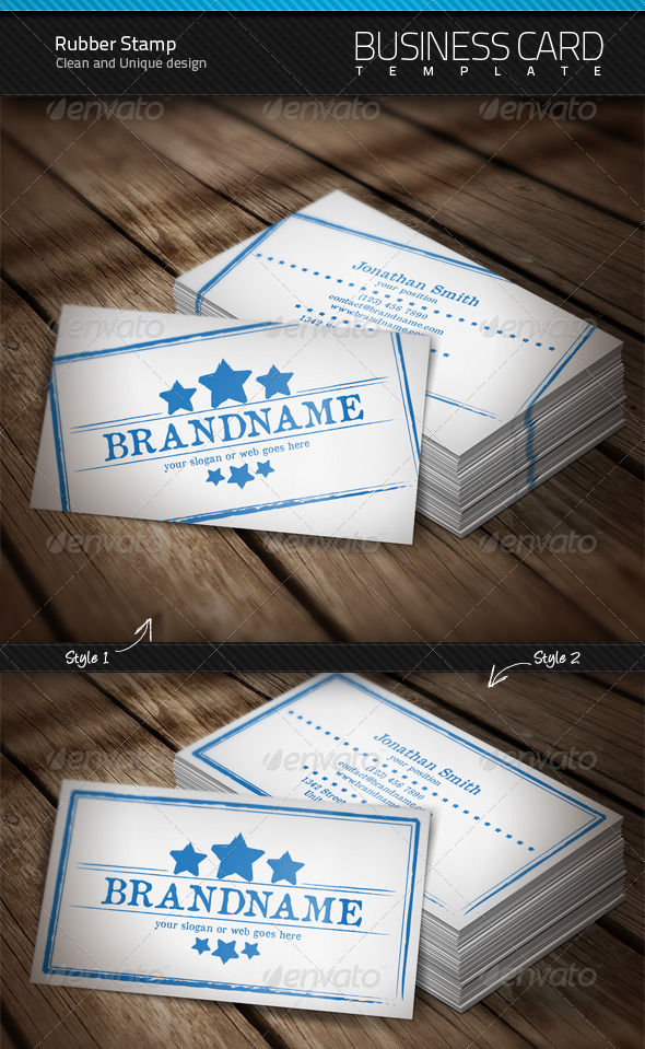 GraphicRiver Rubber Stamp Business Card 1589271