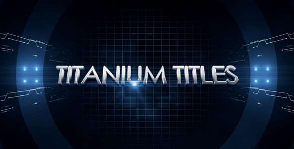 After Effects Project - VideoHive Titanium Titles 1589286