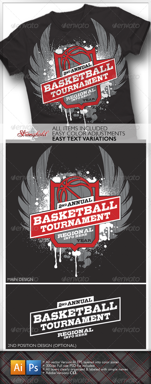 GraphicRiver Basketball Tournament T-shirt 1589335
