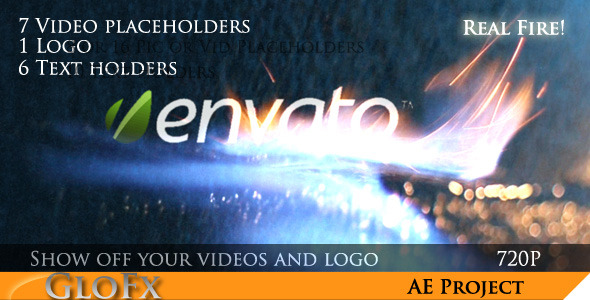 VideoHive Fire Video Display 1074625