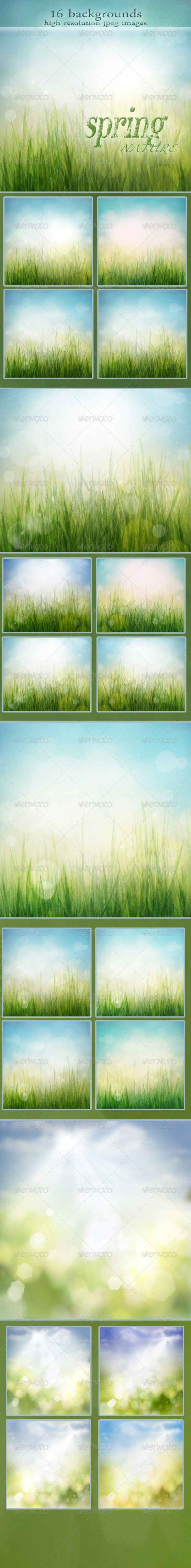 GraphicRiver Nature Spring Backgrounds with Bokeh Effect vol.2 1590614