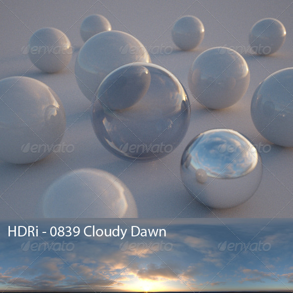 3DOcean HDRi 0839 Cloudy Dawn CG Textures -  HDRI Images  Exterior  Sky  Daylight 1590745