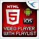 Free download HTML5 Video Player with Playlist & Multiple Skins