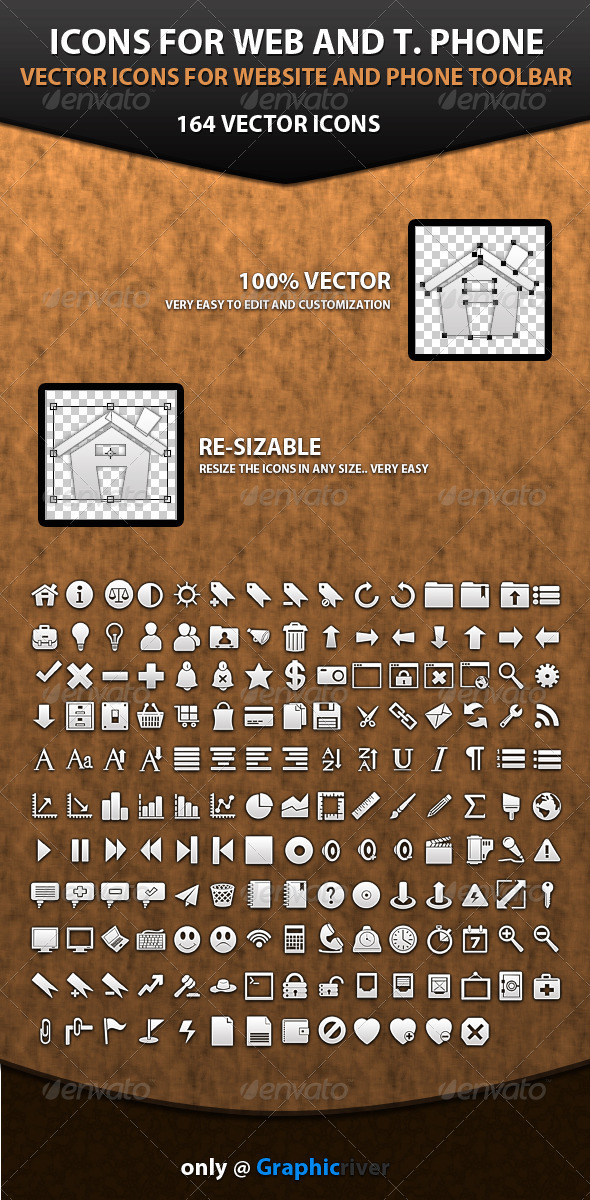 GraphicRiver Icons for Phone 107575