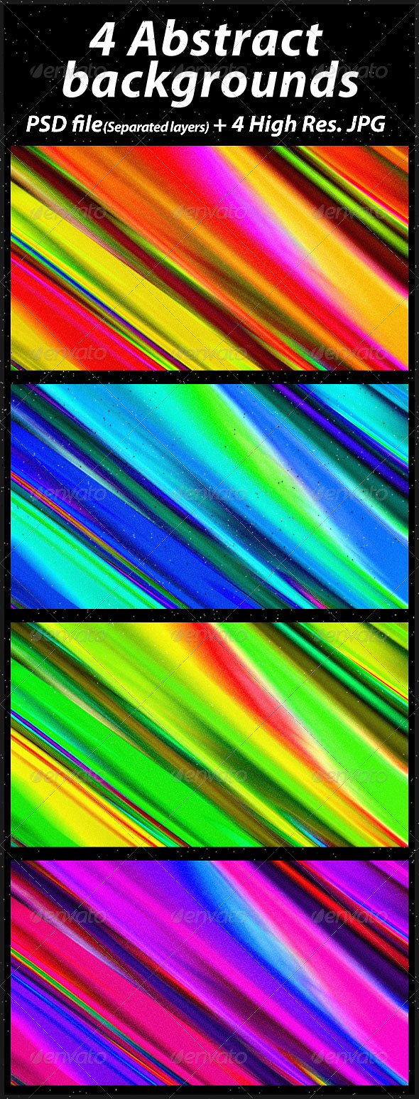 GraphicRiver 4 Abstract Backgrounds 1591463