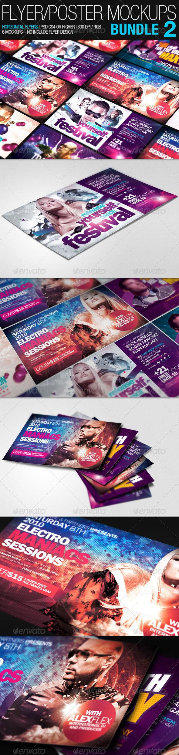 GraphicRiver Flyer Poster Mockups Bundle 02 1592805