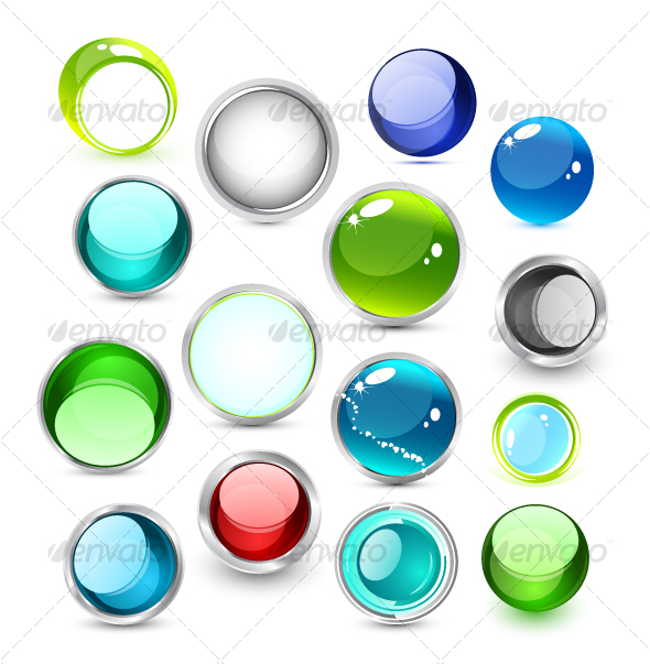 GraphicRiver Set of vector glass icons 62456