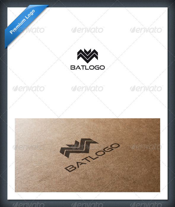 GraphicRiver Abstract Bat Logo Template 1594688