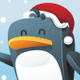 Penguin with santa hat - GraphicRiver Item for Sale