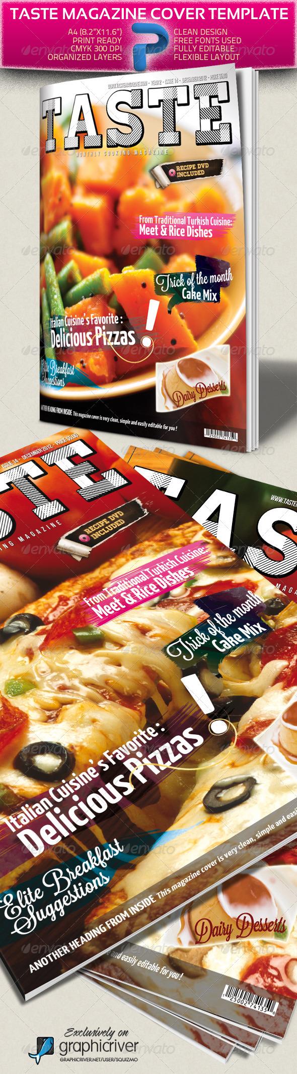 GraphicRiver Taste A4 Magazine Cover Template 1594969