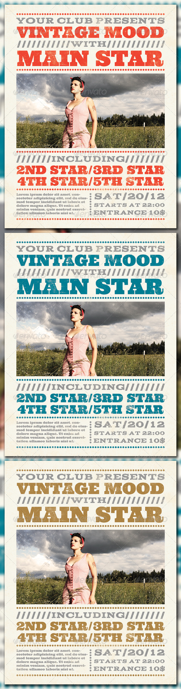 GraphicRiver Vintage Mood Poster 1045956