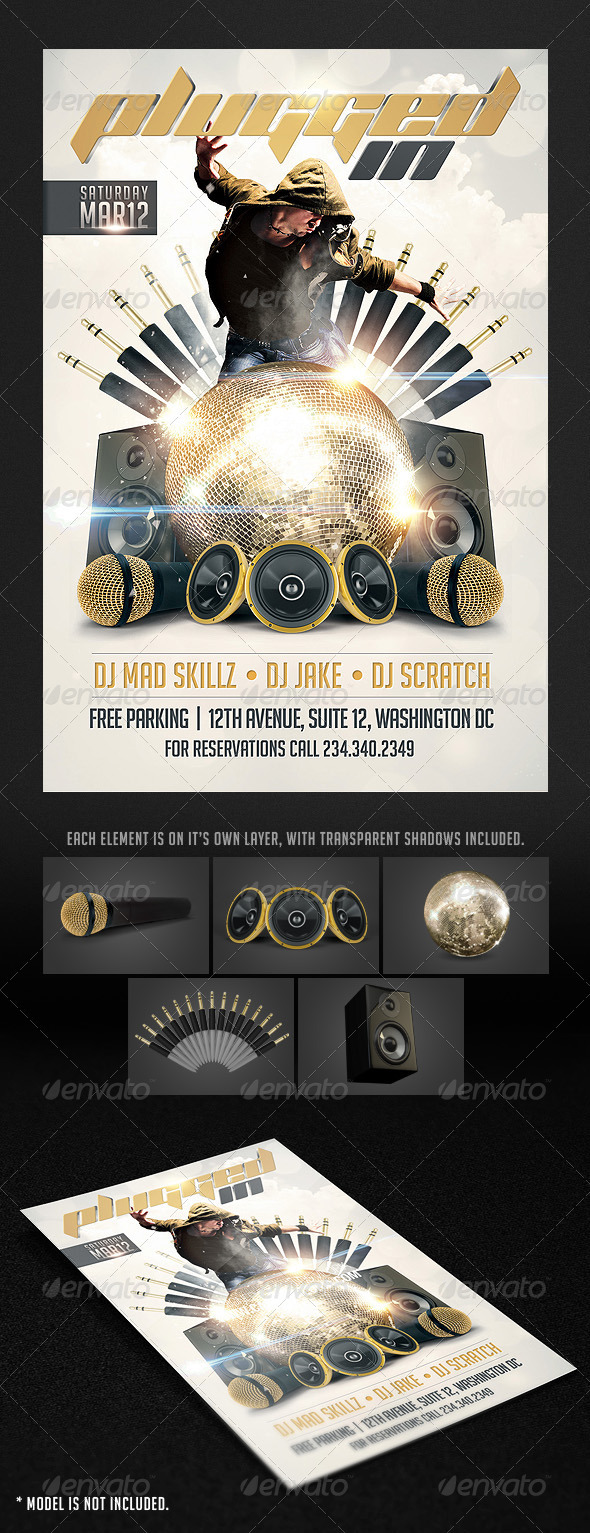 GraphicRiver Plugged in Flyer template 1576657