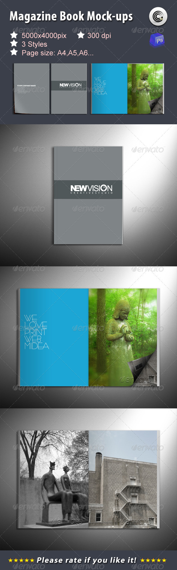 GraphicRiver Magazine Book Mock-ups 1467871