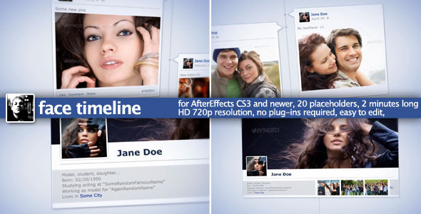 After Effects Project - VideoHive Face Timeline 1596540