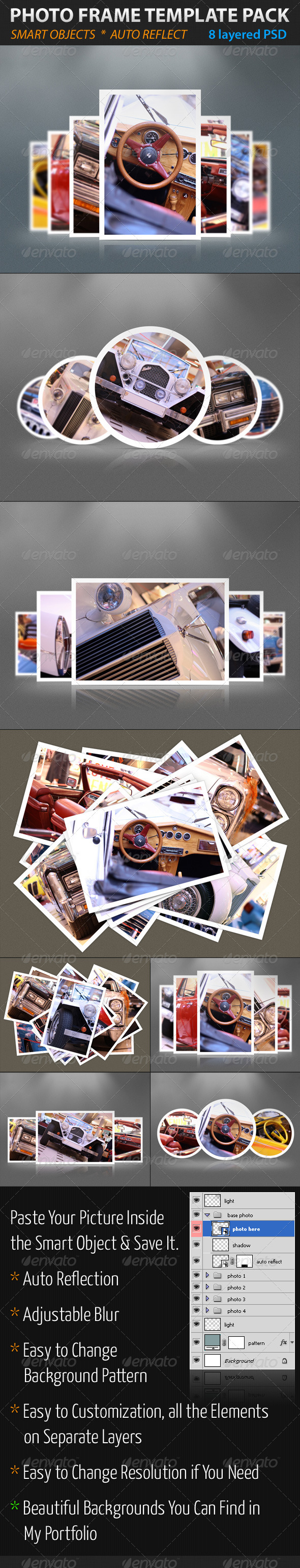 GraphicRiver Photo Frame Template Pack 1596667