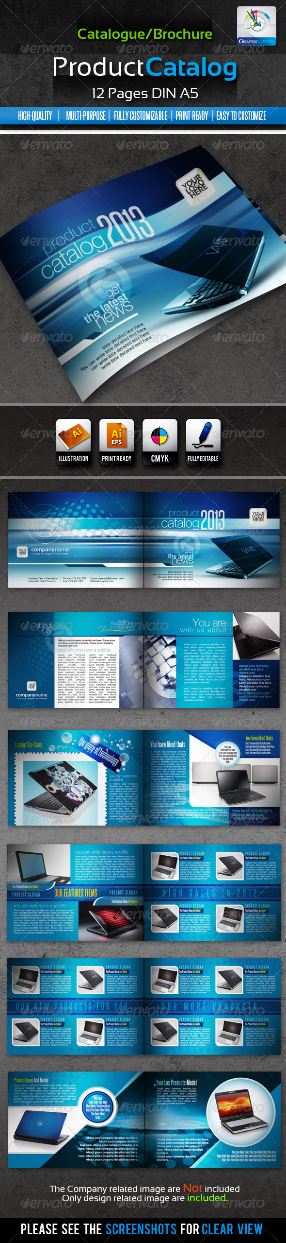 GraphicRiver Corporate Product Catalogue Brochure 12pages 1598202