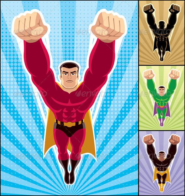 GraphicRiver Superhero Flying 1599085