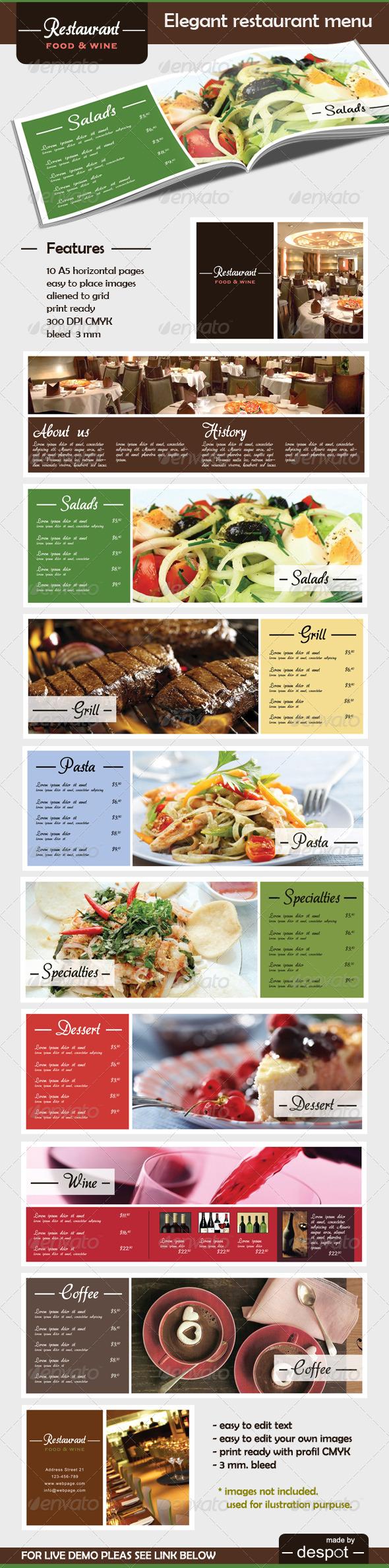 GraphicRiver Elegant Restaurant M~enu 188442