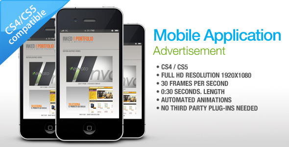 After Effects Project - VideoHive Mobile Application Advertisement 1272115