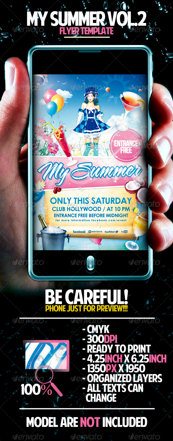 GraphicRiver My Summer Vol.2 Flyer Template 1585106