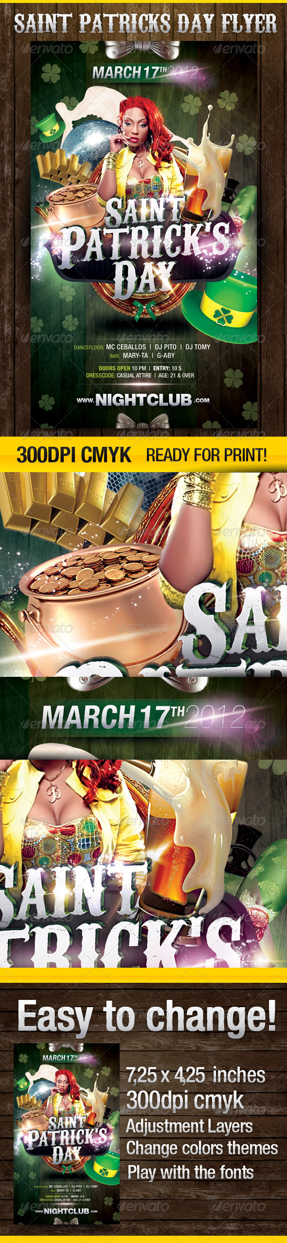 GraphicRiver St.Patrick's Day Party Flyer 1588374