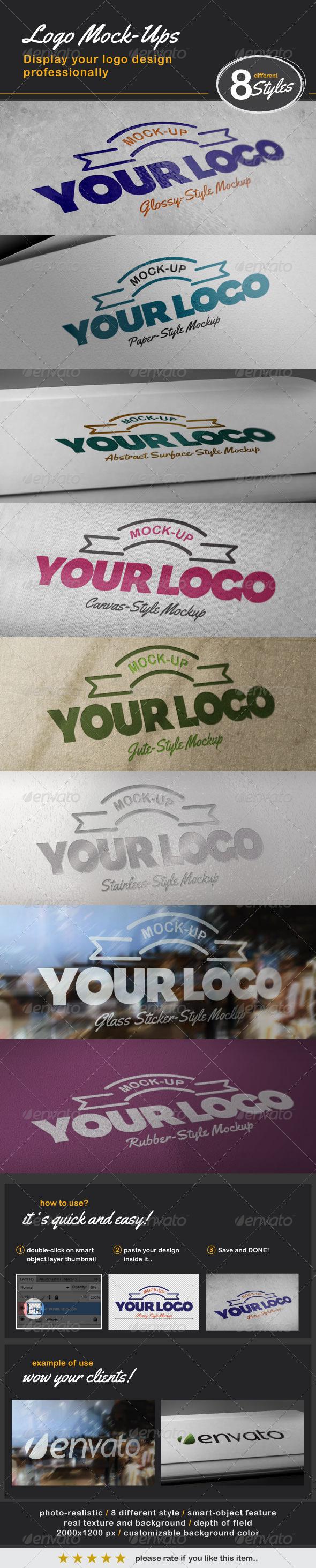 GraphicRiver 8 Photo-Realistic Logo Mock-ups 1602810