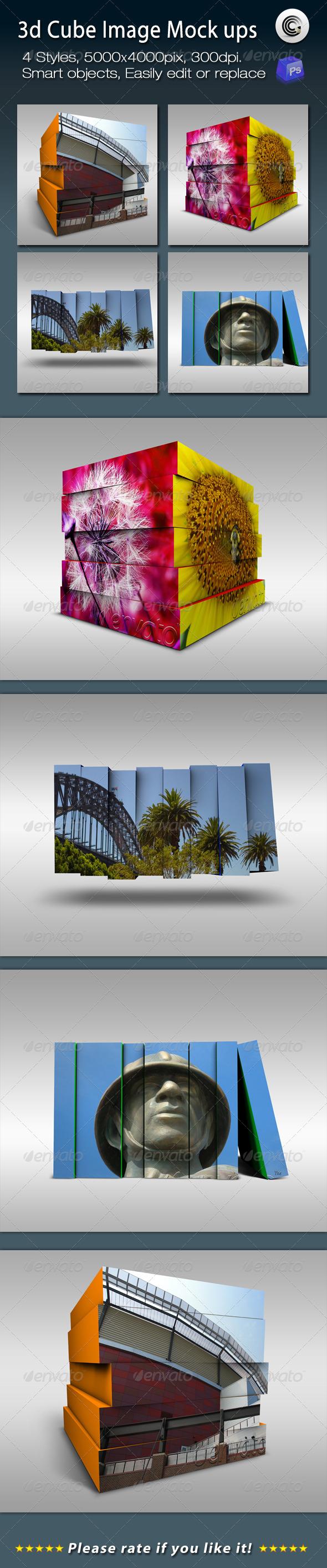 GraphicRiver 3D Cube Image Mock ups 947297
