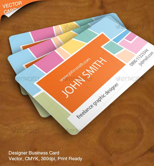 GraphicRiver Designer Business Card Vector 62754