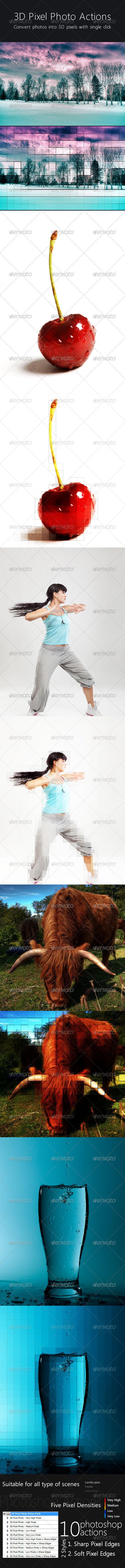GraphicRiver 3D Pixel Photo Action 224444