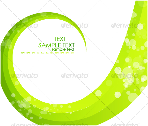 GraphicRiver Green swirl background 62810