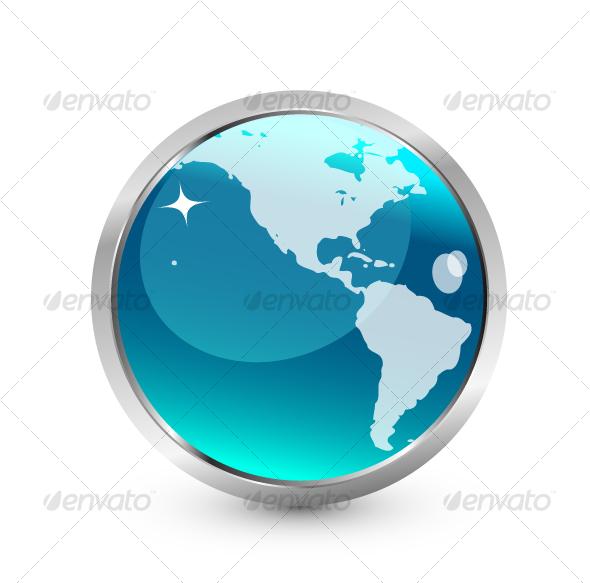 GraphicRiver Blue Earth icon 62811