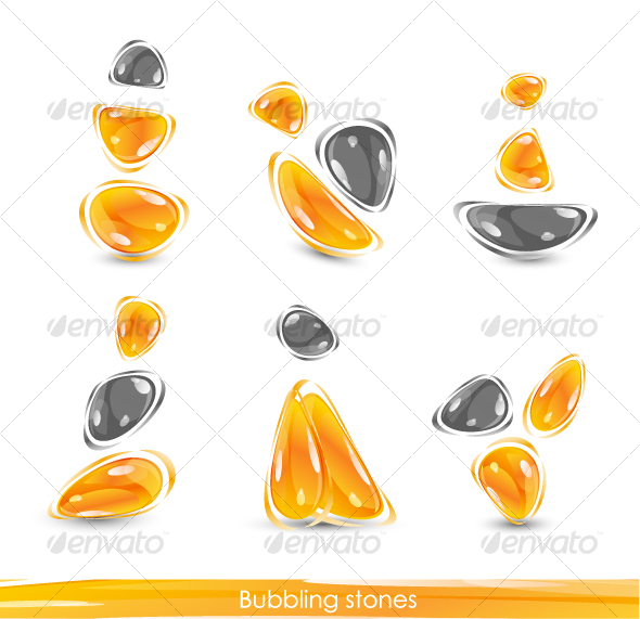 GraphicRiver Abstract glass orange shapes 62816